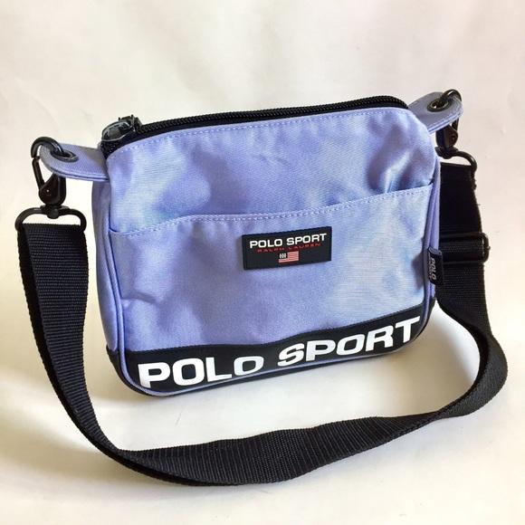 90 s Ralph Lauren Polo Sport Periwinkle Blue Bag. M 5b4e1e733e0caa9c0fcb586a 8f9f5c3ae9c42